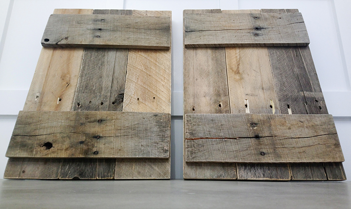 Natural Rustic Pallet Wood Shutters